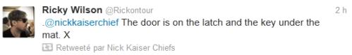 Kaiser Chiefs Rick Tweet