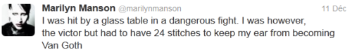 Manson tweet bagarre