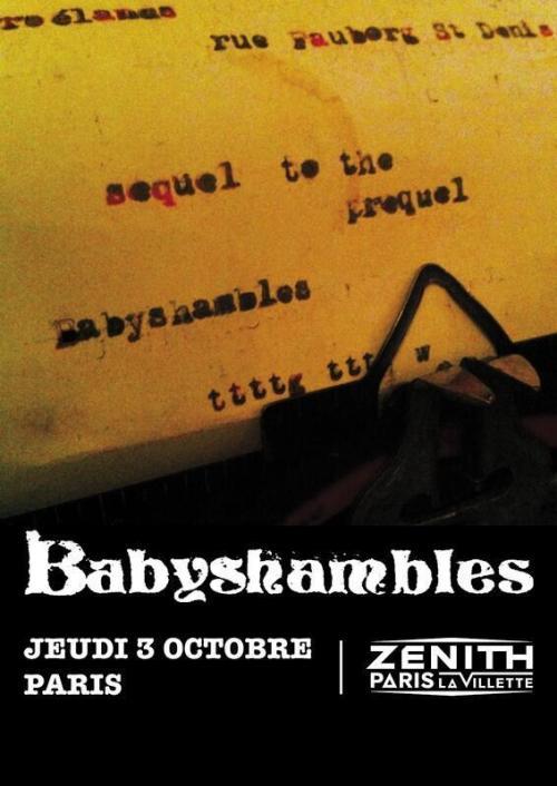 Baby Shambles concert Zénith affiche