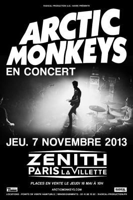 Arctic Monkeys en concert au Zénith de Paris 2013