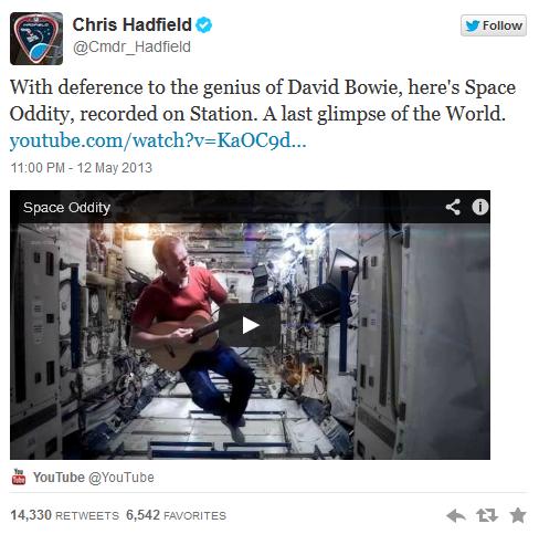 Chris Hadfield Tweet