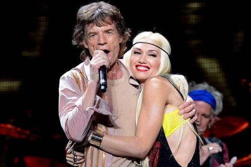 Gwen Stefani et Mick Jagger 2013