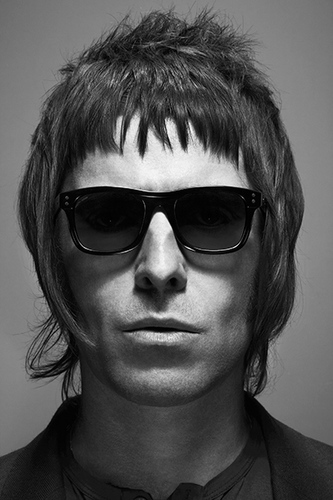 Liam Gallagher black and white