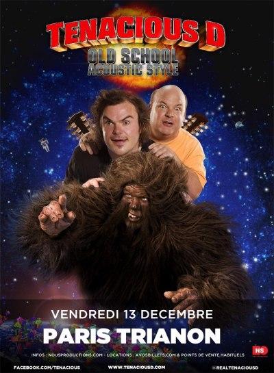 Tenacious D Paris Le trianon affiche