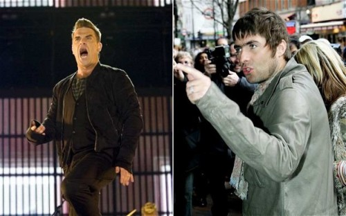 Liam Gallagher et Robbie Williams