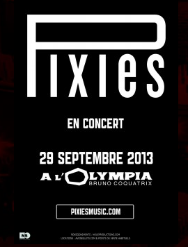 affiche concert Pixies à l'olympia
