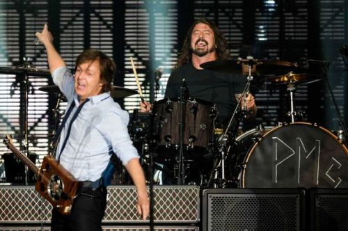 Paul McCartney et Dave Grohl